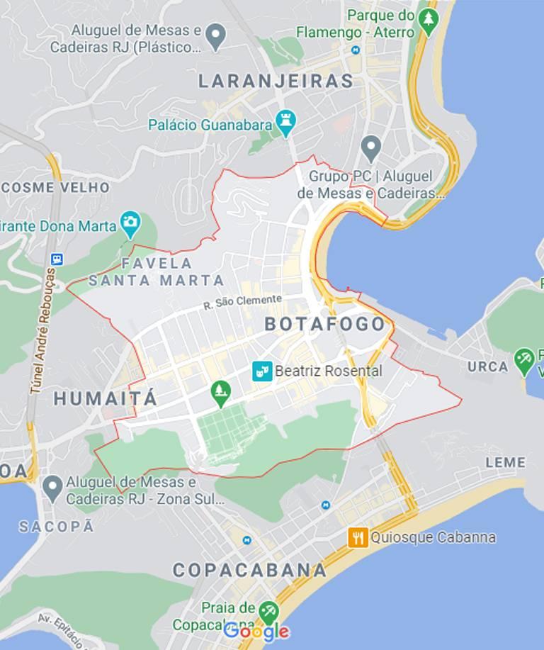 Mapa de Botafogo RJ