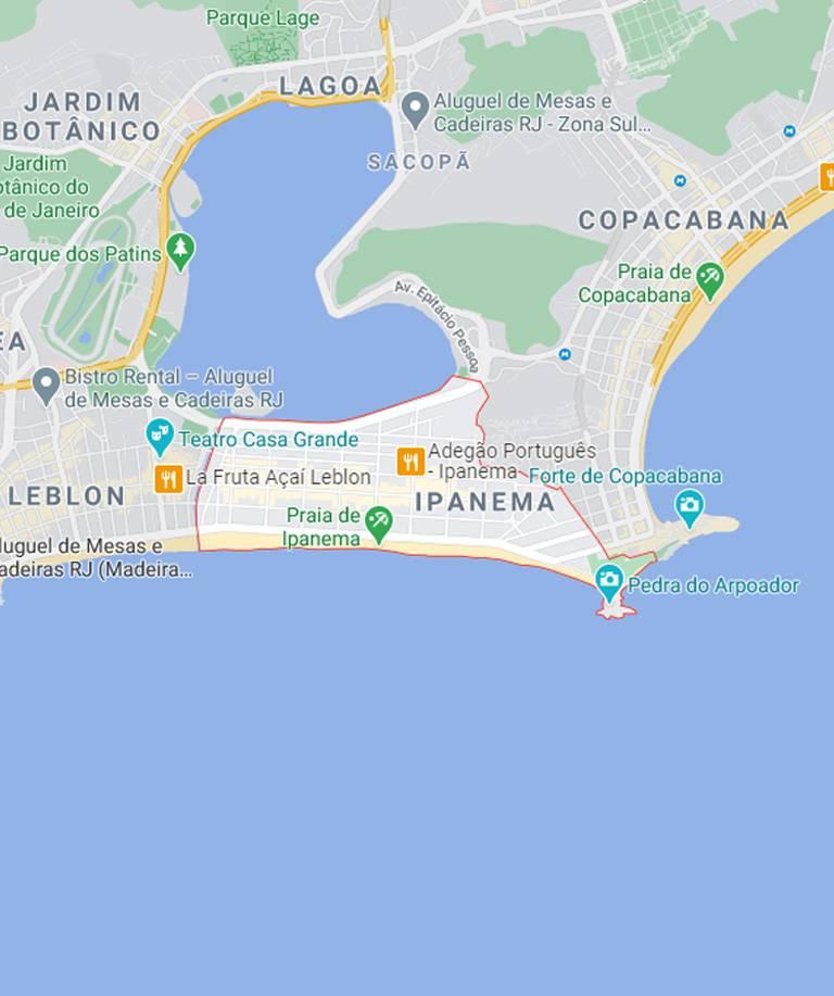 Mapa do Flamengo RJ