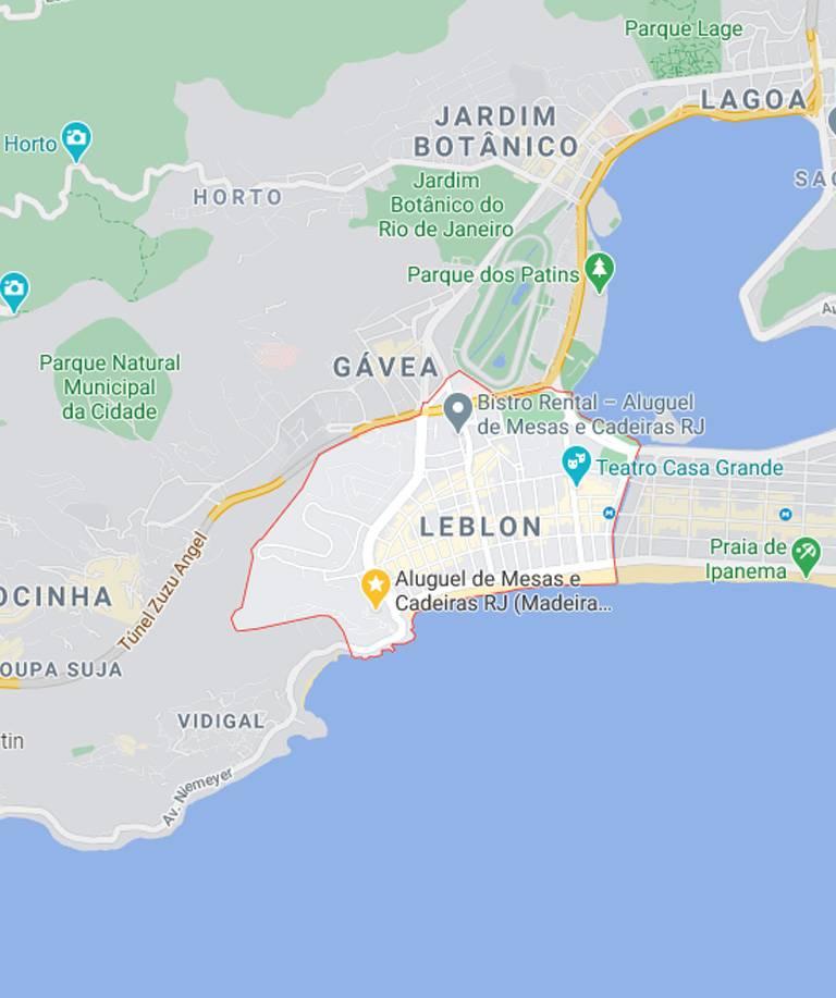 Mapa do Leblon RJ