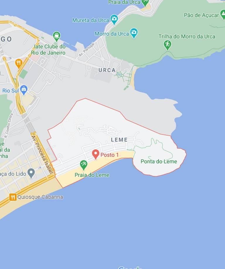Mapa do Leme RJ