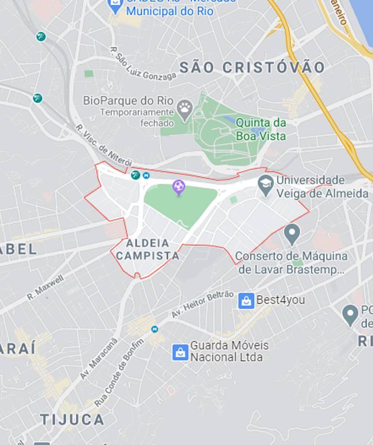 Mapa do Maracanã RJ
