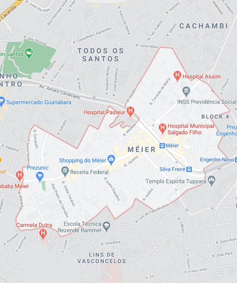 Mapa do Méier RJ
