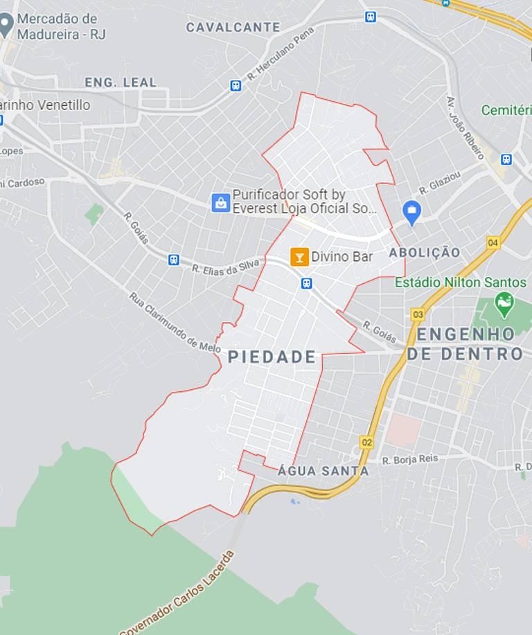 Mapa de Piedade RJ