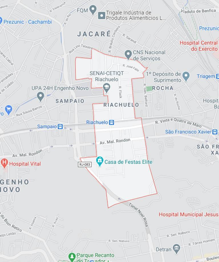 Mapa de Riachuelo RJ