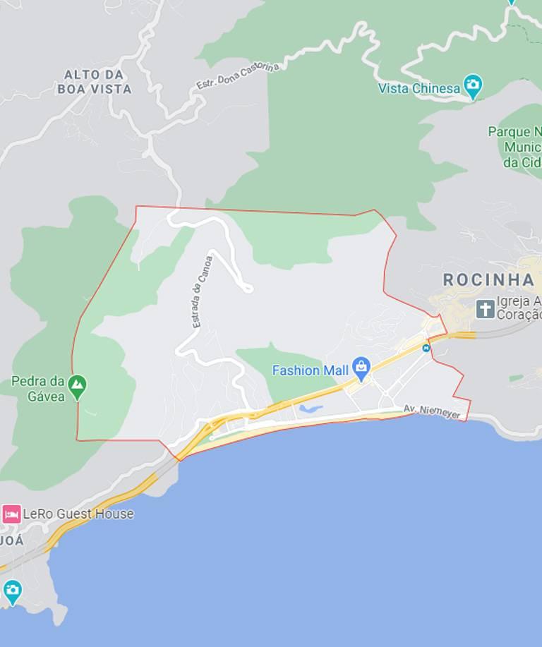 Mapa de São Conrado RJ