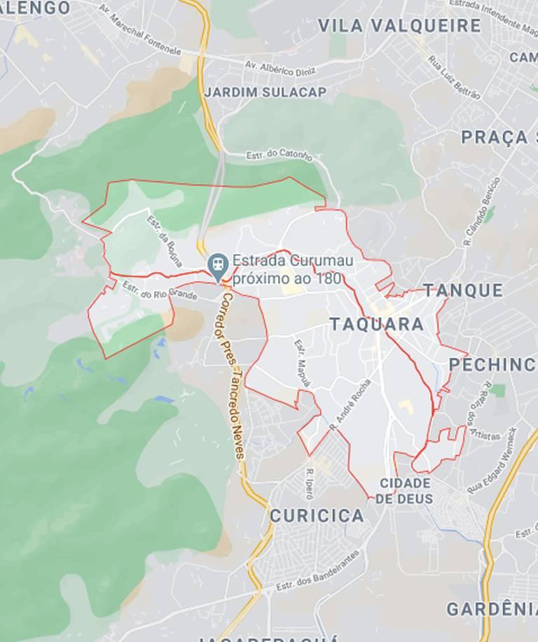 Mapa da Taquara RJ
