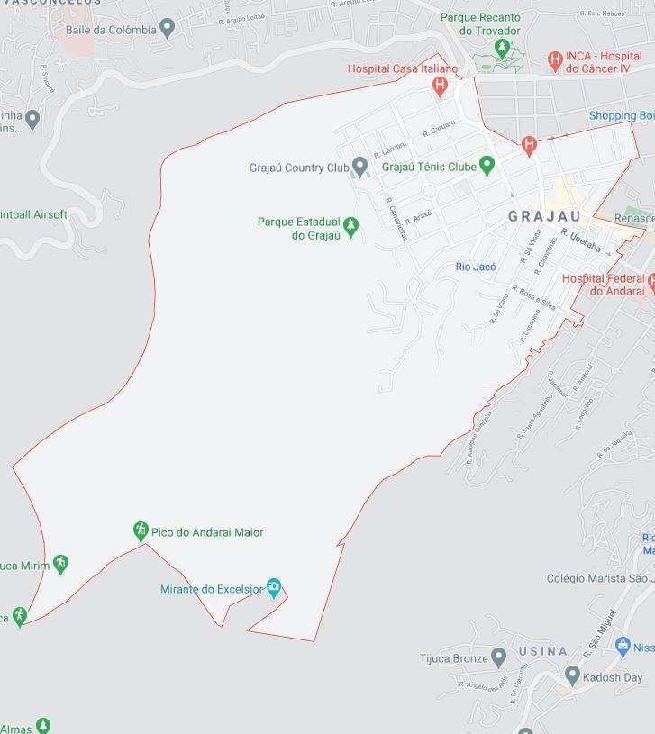 Mapa do Grajaú RJ