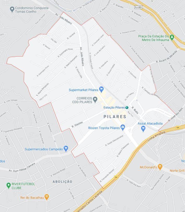 Mapa de Pilares RJ